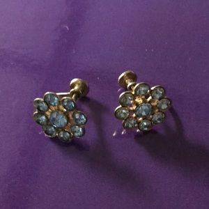 Vintage screw on costume earrings.